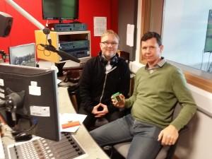 BBC Radio Wale's Adam Walton with CSER's Dan Lamb